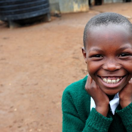 Young girl with big smile